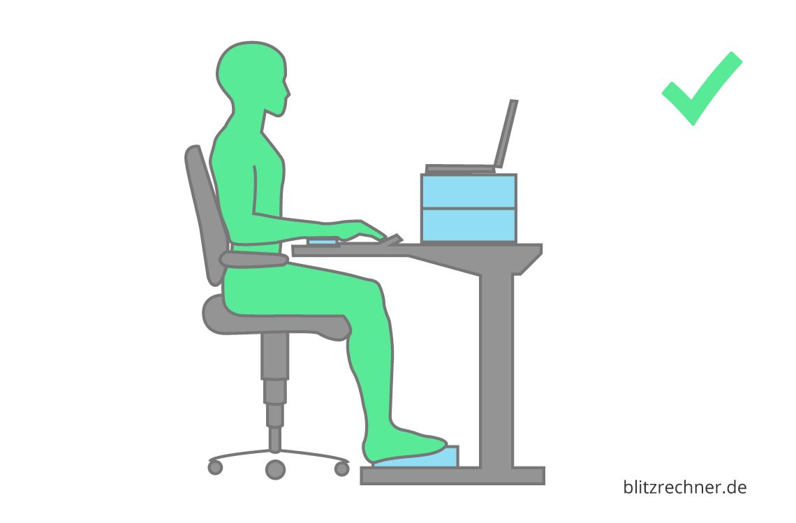 Optimale Hohe Fur Schreibtisch Und Burostuhl