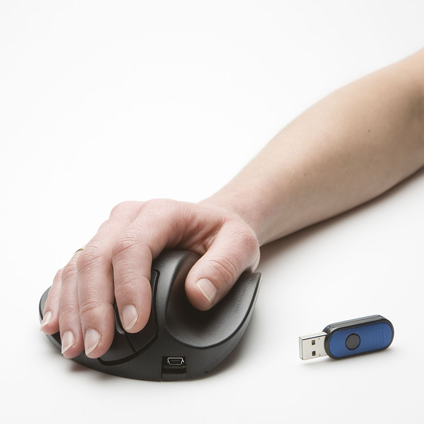 Ergonomische Computermaus Handshoe Mouse wireless